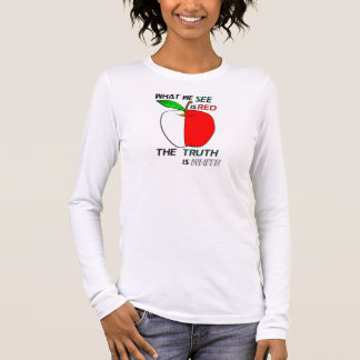 White Apple Long Sleeve T-Shirt