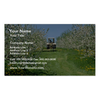 white Apple orchard cultivating, Nova Scotia flowe Business Card Template