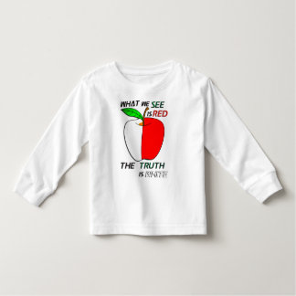 White Apple Toddler T-shirt