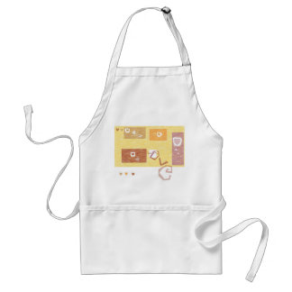 White Apron with hearts