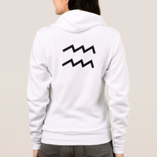 White Aquarius 2 Zodiac January 20 - February 18 Hoodie