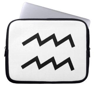 White Aquarius 2 Zodiac January 20 - February 18 Laptop Sleeve