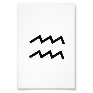 White Aquarius 2 Zodiac January 20 - February 18 Photo Print