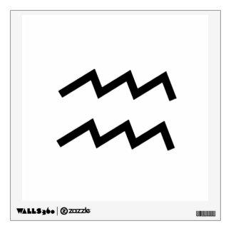 White Aquarius 2 Zodiac January 20 - February 18 Wall Sticker