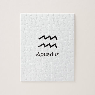 White Aquarius Zodiac January 20 - February 18 Jigsaw Puzzle