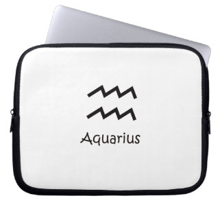 White Aquarius Zodiac January 20 - February 18 Laptop Sleeve