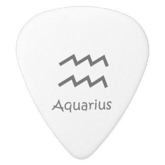 White Aquarius Zodiac January 20 - February 18 White Delrin Guitar Pick