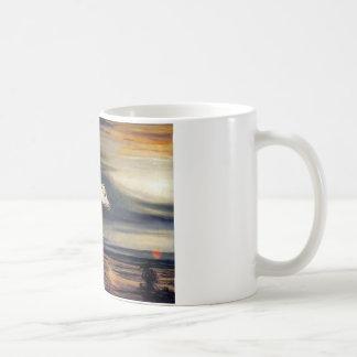 White Arabian Horse Painting Coffee Mug