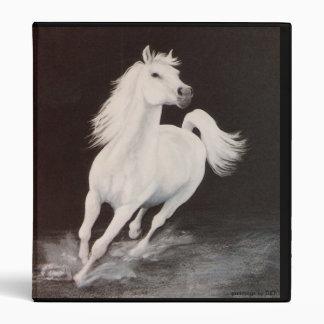 White Arabian Stallion Binder