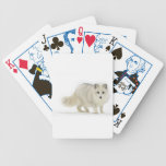 White Arctic Fox Bicycle Card Deck