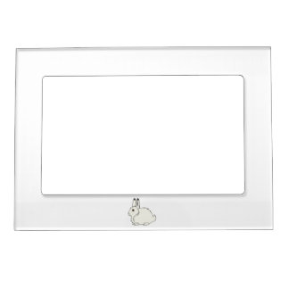 White Arctic Hare Magnetic Frame