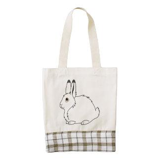 White Arctic Hare Zazzle HEART Tote Bag