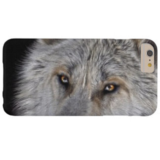 White Arctic Wolf Eyes Wildlife Photo Barely There iPhone 6 Plus Case