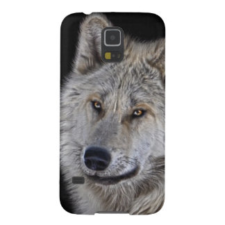 White Arctic Wolf Face Wildlife Portrait Galaxy S5 Cover