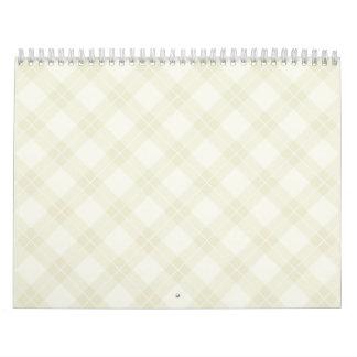White Argyle Calendars
