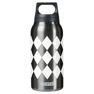 White Argyle Diamonds Insulated Water Bottle