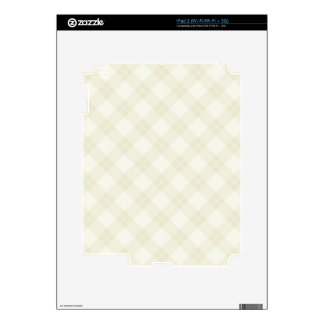 White Argyle Pattern Decals For The iPad 2