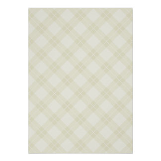 White Argyle Pattern Posters