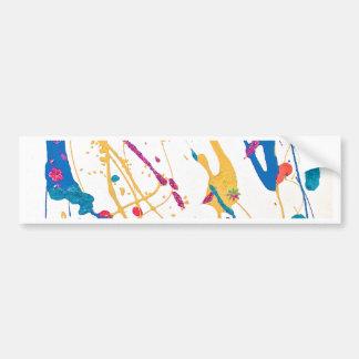White Art Deco Print Bumper Sticker