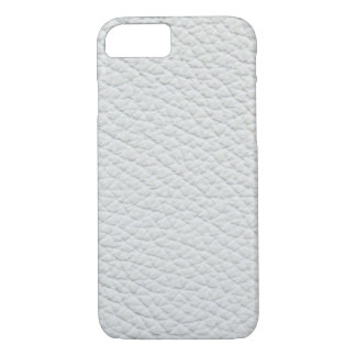 White artificial furniture leather iPhone 8/7 case