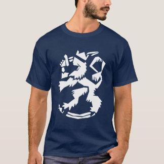 White Arty Lion Dark T-Shirt