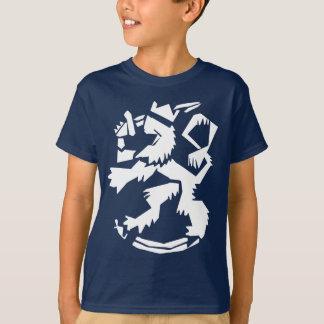 White Arty Lion Kids' Dark T-Shirt