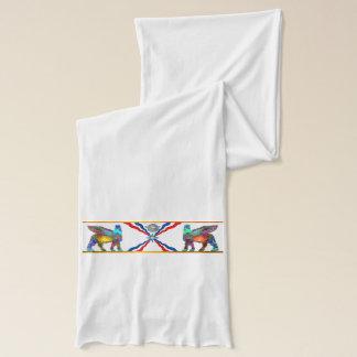 White Assyrian flag (Lamassu) Scarf