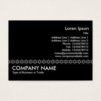 White Asterisk Line (Outline)- Black Business Card