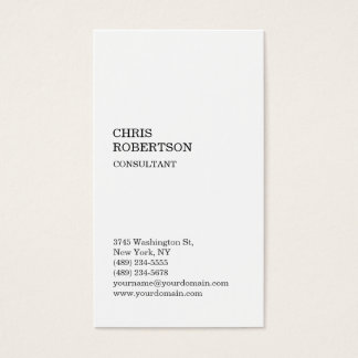 White Attractive Classical Standard Business Card
