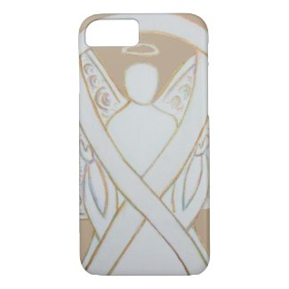 White Adoption Awareness Ribbon Angel Custom iPhone 7 Case