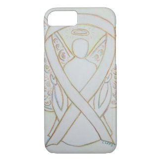 White Child Adoption Awareness Ribbon Angel Custom iPhone 7 Case