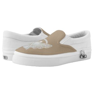 White Awareness Ribbon Childhood Adoption Angel Custom Shoes