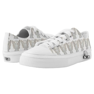Child Adoption White Awareness Ribbon Angel Custom Sneakers