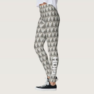 Childhood Adoptions White Awareness Ribbon Angel Custom Words Leggings