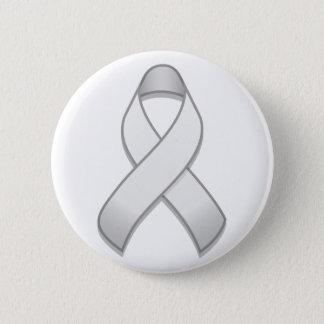 White Awareness Ribbon Button