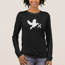 White Awareness Ribbon Dove of Hope Long Sleeve T-Shirt