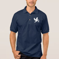 White Awareness Ribbon Dove of Hope Polo Shirt