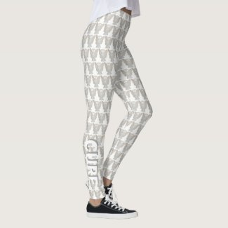 White Awareness Ribbon Hope & Cure Angel Leggings