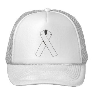 White Awareness Ribbon Products Trucker Hat