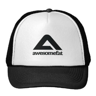 White Awesomefat Branded Gear Mesh Hats