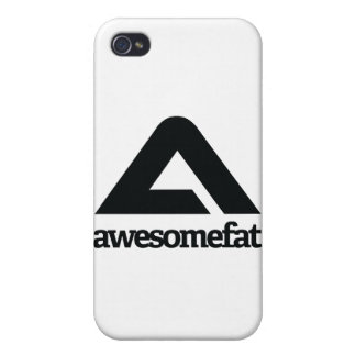 White Awesomefat Branded Gear iPhone 4/4S Case