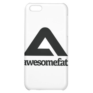 White Awesomefat Branded Gear Cover For iPhone 5C
