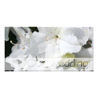 White Azalea - Our Wedding Card