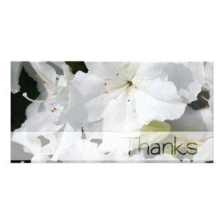 White Azalea Thank You Photo Card