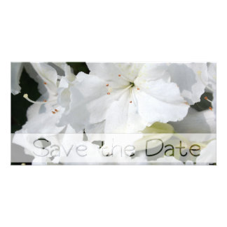 White Azalea Wedding Save the date Card