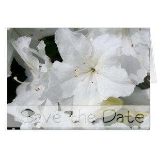 White Azalea Wedding Save the date Note card