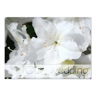 White Azalea Wedding Save the Date  Personalize it Card