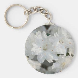 White Azaleas 2008 Basic Round Button Keychain