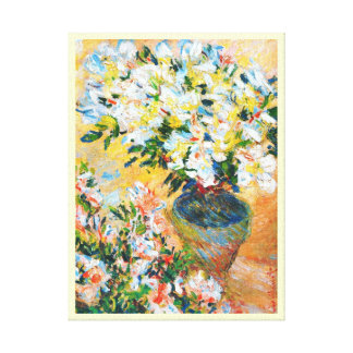 White Azaleas in a Pot, 1885 Claude Monet Gallery Wrapped Canvas