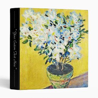 White Azaleas in a Pot Claude Monet 3 Ring Binder